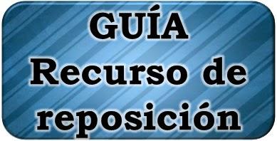 Ya se pueden presentar los recursos de reposición  | Plantilla y consejos..