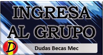 Ingresa en el grupo Dudas Becas Mec para acceder a los listados de seguimiento.